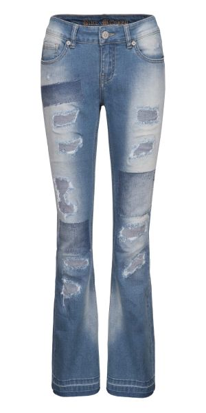 BM 3570 Flower Power super Fashion Jeans ausgestellt