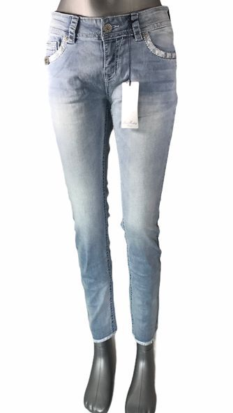 Blue Monkey Luci 30315 Cropped Skinny/Applikationen