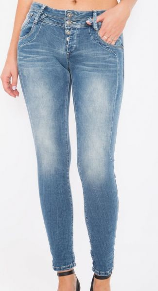 Blue Monkey Anny1600 Damen Skinny Jeans