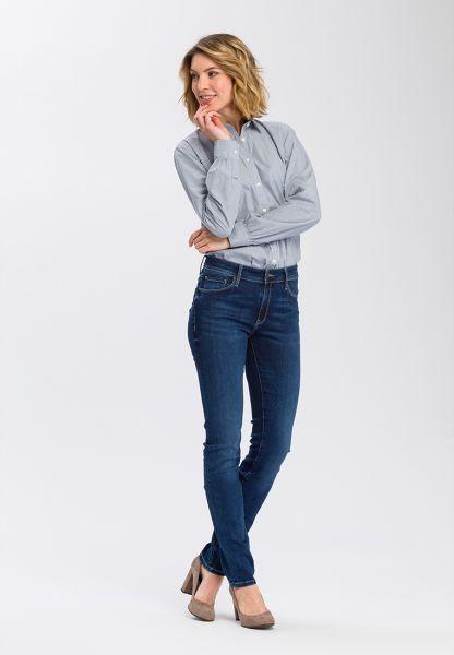 Cross Jeans P 489-120 Anya DARK BLUE USED Slim Fit Damen Jeans