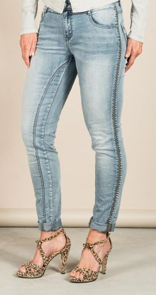 RED BUTTEN Top modische Jeans mit seitlichem Stickstreifen