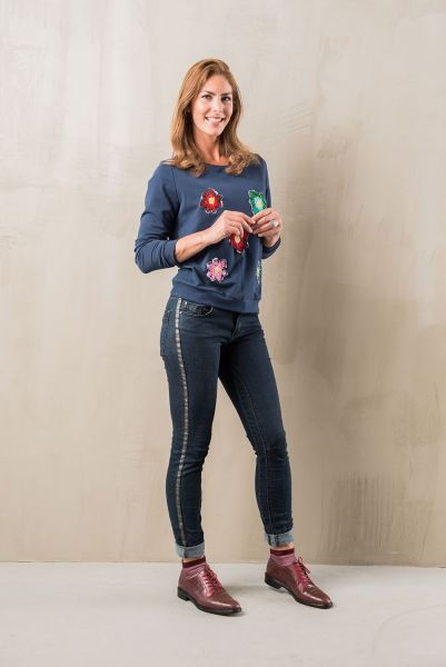RED BUTTEN Bianca Dark Blue STYLING & FIT Damen Stretch-Jeans