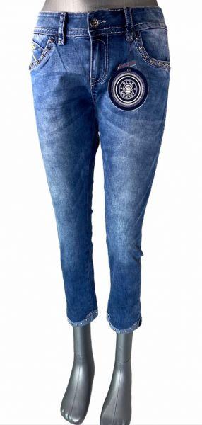 Blue Monkey Charlotta 10720 7/8 Jeans mit Nieten