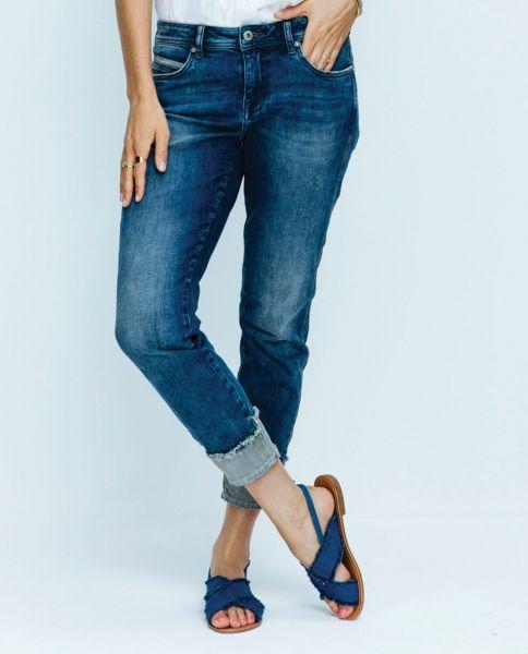 RED BUTTON Lulu SRB2673 Damen Fashion Jeans turnup