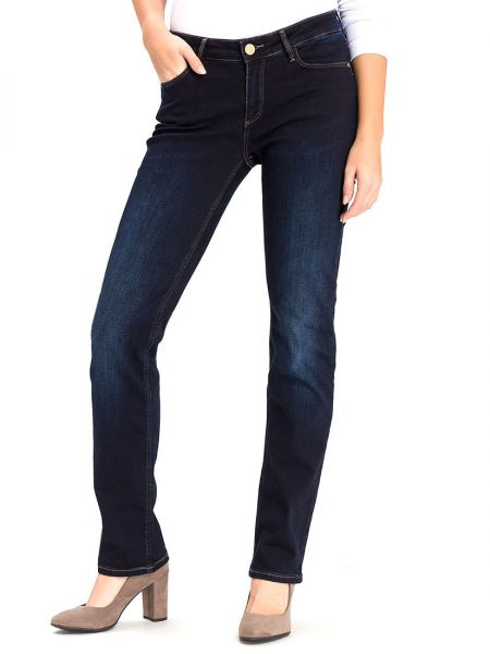 Cross Jeans N 487-026 Rose BLUE BLACK USED Damen Jeans