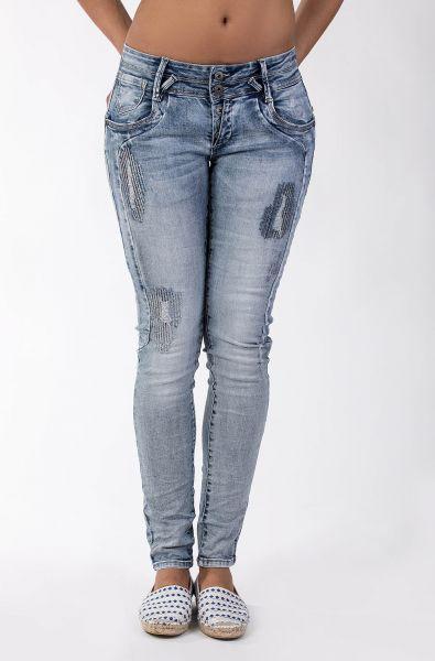 Blue Monkey Anny 1708 trendige, modische leichte Jeans