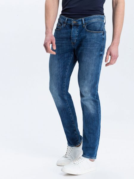Cross Jeans Tapered DARK MID BLUE Herren Jeans
