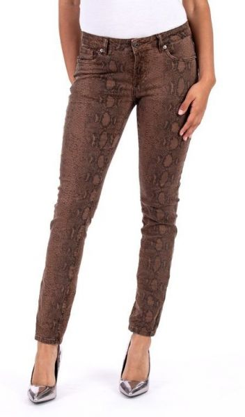 blue-monkey honey-10352 jeans-skinny-snake-print-braun