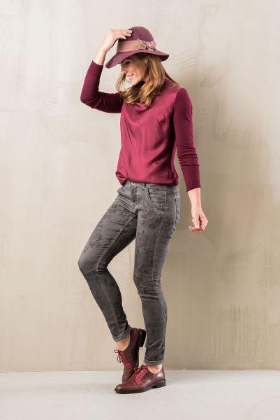 RED BUTTEN 2302 FLORA FLOWER STYLING & FIT modische Damen Jeans